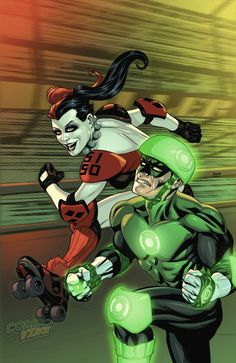 Harley Quinn roller derby