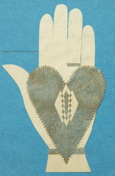 Antique Heart in Hand Love Token. Circa 1840