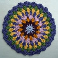 Crochet Mandala Wheel made by Amy, Bristol, UK, for yarndale.co.uk