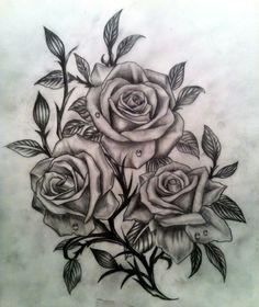 three roses tattoo man - Google Search