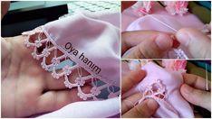 Çatalla Kum Boncuklu Oya Yapılışı Crochet, Floral, Earrings, Flowers, Jewelry, Yarn Crafts, Ear Rings, Stud Earrings, Jewlery