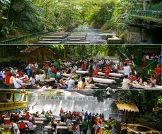 Villa Escudero Resort Waterfall Restaurant – Philippines. Extreme lunch experience. Read more at jebiga.com