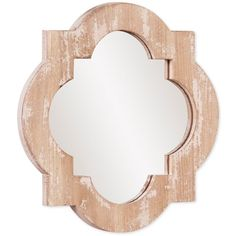 Howard Elliott Sabrina Mirror ($59) ❤ liked on Polyvore featuring home, home decor, mirrors, no color, shabby chic home decor, antique white mirror, howard elliott mirror, shabby chic home accessories and quatrefoil mirror