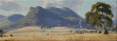 Oil Painting Still Life Watercolor Landscape, Landscape Art, John Wilson, Painting Still Life, Mountain Paintings, Australian Art, Blue Mountain, Scenery, Mountains