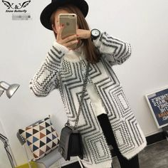 Women's Winter Knitted Cotton Sweater