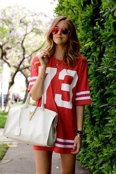 Game Day Fashion...... saint laurent bag & topshop dress.......