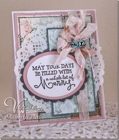 Handmade holiday card by Maureen Plut using Merry & Bright from Verve.  #vervestamps