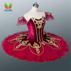 Vermelho adulto panqueca tutus de ballet clássico platter competição ballet profissional ballet tutu traje da bailarina para as meninas(China (Mainland))