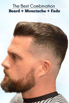 best Combination Of Beard, Moustache And Fade http://www.99wtf.net/men/mens-hairstyles/undercut-hairstyles-men/