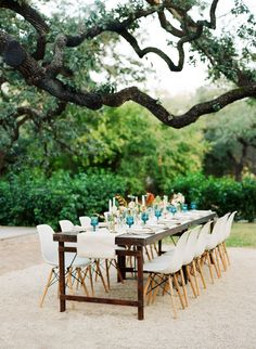 Light and dark color palette, traditional furniture pieces in a contemporary wedding ceremony seating, and freshly renovated old mansion at Green Pastures. Intimate Wedding Reception, Wedding Ceremony Seating, Outdoor Wedding Venues, Farm Table Wedding, Farm Tables, Garden Wedding, Apricot Wedding, Austin Wedding Venues, Wedding Shoot