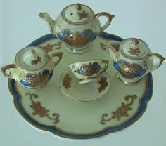 Vintage 1950's Elegant & Fine JAPAN Porcelain by Blackberrywoods, $95.00