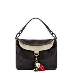Black and Stone Charm Icons Molly Bag