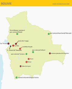 bolivie carte détaillée touristique