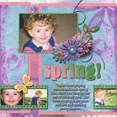 Pictures of  my daughter.      Kit used:  Spring Awakening bundle by Day Dreams 'n Designs available at http://www.scraps-n-pieces.com/store/index.php?main_page=product_info&cPath=66_235&products_id=8777