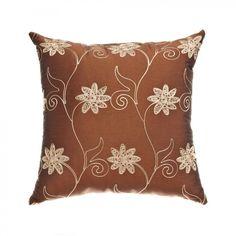 "Softline Home Fashions Sutton 18"" Pillow in Copper - KGTNcpr18x18PW"
