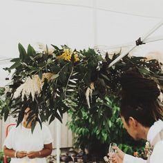 WEDDING BAR SUSPENDED ARRANGEMENT F l o r a l S t y l i s t  (@pebbleanddot) Wedding bar   March 2019 📷 @sophieisabella_photo