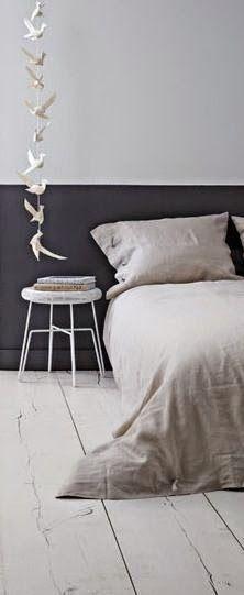 Sto raccogliendo ispirazioni per la mia camera da letto, più precisamente per il muro dove poggia la testata, che per il momento è un grigio...