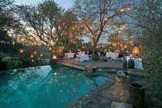 La piscine du Singita Sabi Sand safari lodge en Afrique du Sud