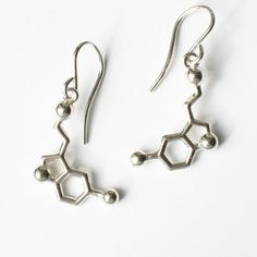 serotonin earrings  for happiness by molecularmuse on Etsy, $50.00