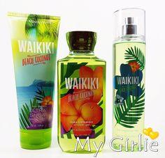 Lot of 3 Newest Bath & Body Works WAIKIKI BEACH COCONUT Fragrance Mist Cream Gel #BathBodyWorks