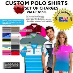 Custom Polo Shirts - Free Set-Up