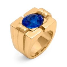Van Cleef & Arpels - Sapphire & Gold Ring by Van Cleef & Arpels offered by Pat Saling on InCollect Van Cleef And Arpels Jewelry, Van Cleef Arpels, Green Sapphire, Turquoise, Fine Jewelry, Jewelry Rings, Jewlery, Fashion Rings, 18k Gold