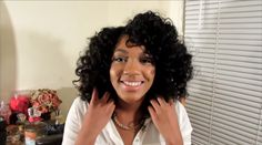 Bantu Knot Out Style On Wet Natural Hair