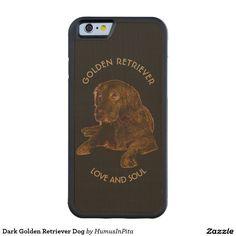 Dark Golden Retriever Dog Carved® Maple iPhone 6 Bumper Case