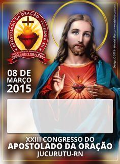 Crachá para o Apostolado da Oração - Florânia-RN, para o XXIII Congresso do AO em Jucurutu-RN