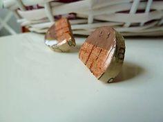 Martinuska / S hnedou/cork earrings