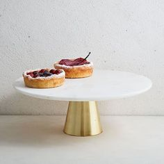 Marble + Brass Cake Stand #westelm
