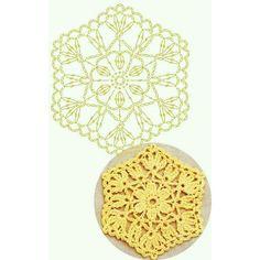 Um motivo lindinho para vocês...ótimo para fazer porta copos também. . . #crochet #motivosdecroche #graficos