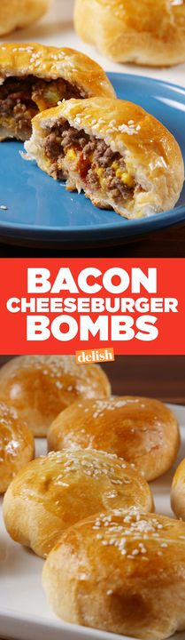 Bacon Cheeseburger Bombs will make your brain explode. Get the recipe from Delish.com.