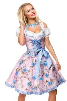 Dirndl Romantik Roses rosa-blau | Sandy Kay | S❤