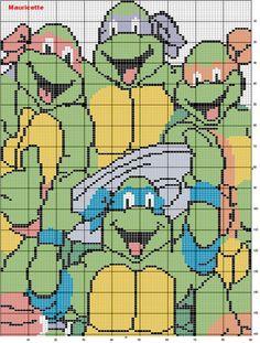 ENCANTOS EM PONTO CRUZ: As Tartarugas Ninja