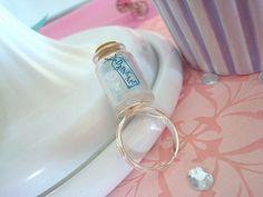 drink me bottle | Alice in Wonderland Drink Me Bottle Ring by kelbelskreations