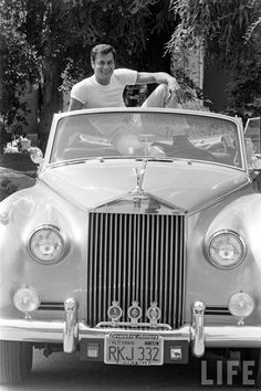 TONY CURTIS AND HIS ROLLS ROYCE, 1961