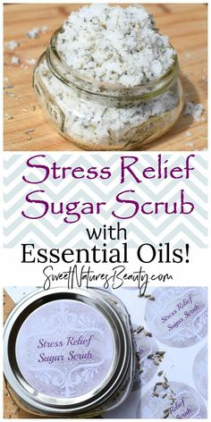 Make this Stress Relief Sugar Scrub using all natural ingredients and essential oils for natural beauty and natural skincare! Make this Stress Relief Sugar Scrub using all natural ingredients and essential oils for natural beauty and natural skincare! Sugar Scrub Homemade, Sugar Scrub Recipe, Body Scrub Recipe, Lotion Recipe, Homemade Soaps, Diy Body Scrub, Diy Scrub, Hand Scrub, Natural Beauty Tips