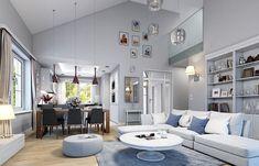 Красивый дом с большим гаражом и с чердачным помещением S8-227-5 (Дом на Парковой). Визаулизация 5. Shop-project