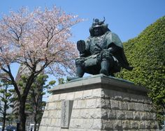 Shingen Takeda bronze statue,Kofu Japan