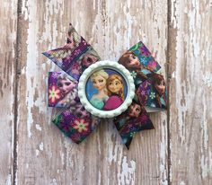 Frozen Anna and Elsa 3 inch hair bow by binspiredbylife on Etsy
