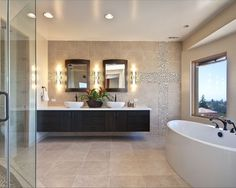 Travertine Glass Tile Bathroom Design, Pictures, Remodel, Decor and Ideas - page 11