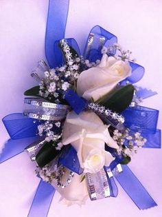 corsages for blue dress   Prom Corsages & Boutonnieres Delivery Modesto CA - Flowers By Alis