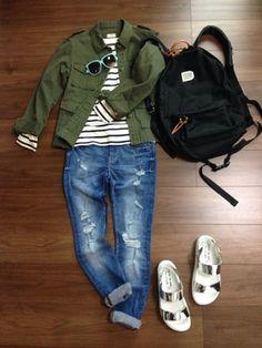 Mutsu☆│SEVENDAYS=SUNDAYのミリタリージャケットコーディネート