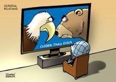 #Cartoon by Shadi Ghanim.  #Caricature #Politics #News #World #USA #Russia #US