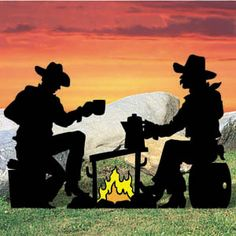 1520 - Campfire Cowpokes Shadow Pattern