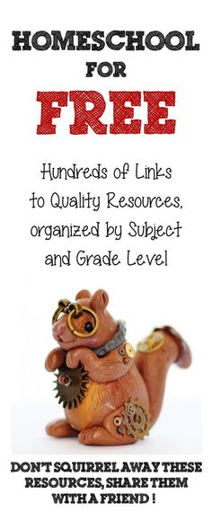 Free Quality Homeschool Curriculum Resources organized by subject and grade level.