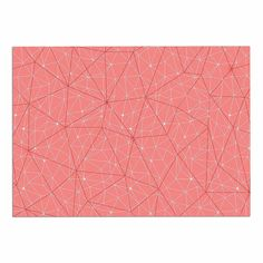 KESS InHouse Michelle Drew 'Wanderlust Pink Skies' Coral Geometric Dog Place Mat, 13' x 18' ^^ For more information, visit now : Dog food container