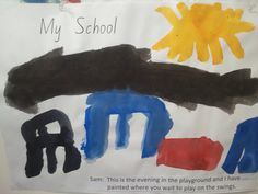 Sam's drawing of what the John Colet School playground would look like in the evening! #JohnColetSchool #kids #painting