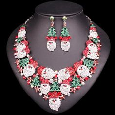 Exclusive Christmas Gemstone Set - Necklace + Earrings